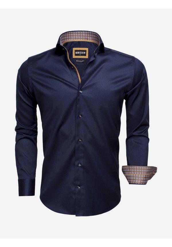 Overhemd Lange Mouw 75535 Dark Navy