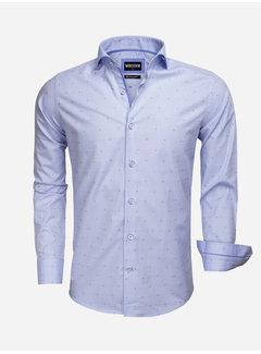 Wam Denim Shirt Long Sleeve 75537 Blue Red