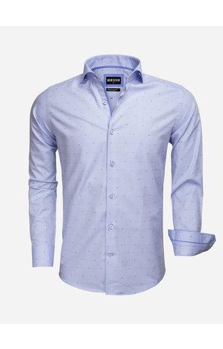 Wam Denim Overhemd Lange Mouw 75537 Blue Red