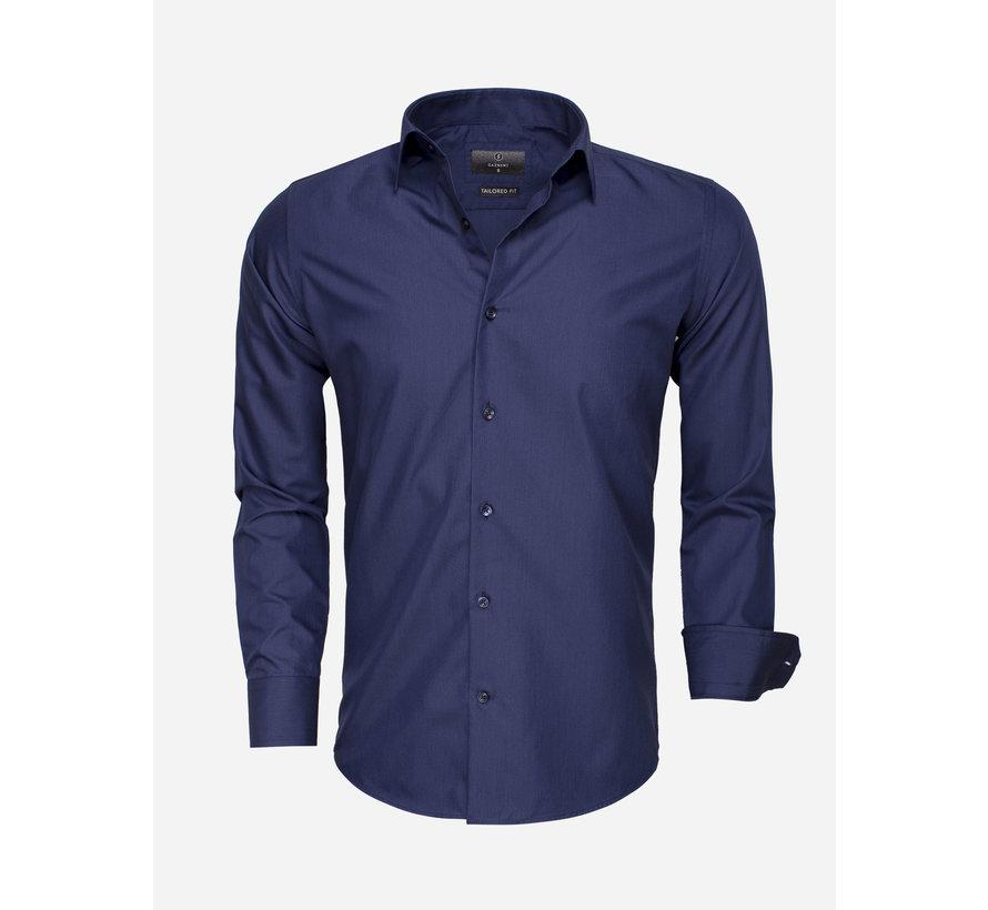 Overhemd Lange Mouw 65008 Navy