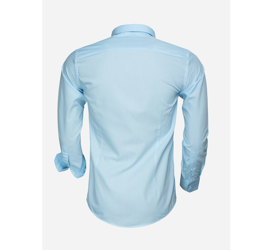 Overhemd Lange Mouw 65008 Light Turquoise