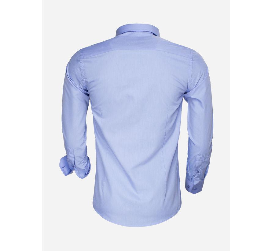 Shirt Long Sleeve 65008 Light Blue
