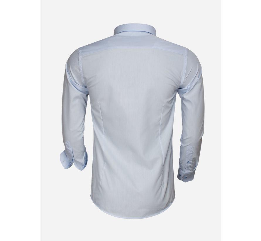 Overhemd Lange Mouw 65008 Blue