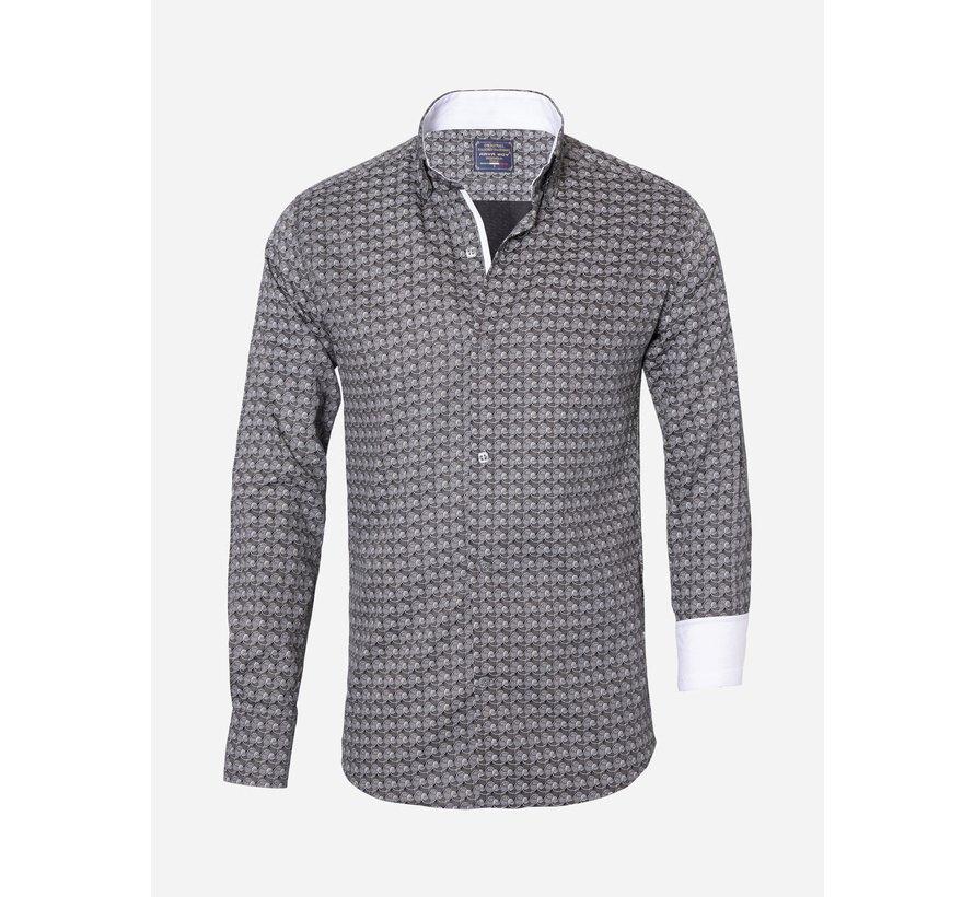 Overhemd Lange Mouw 85270 Grey