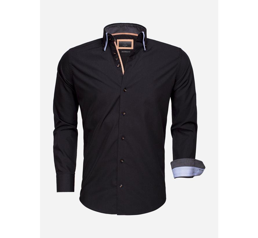 Overhemd Lange Mouw 65009 Black