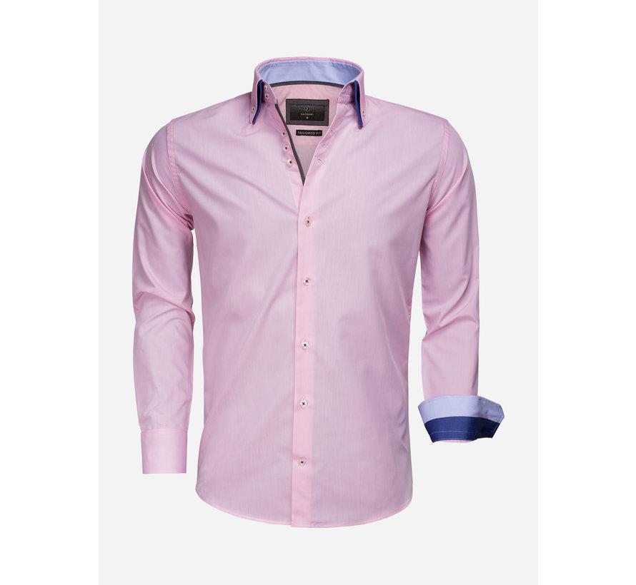 Overhemd Lange Mouw 65009 Pink