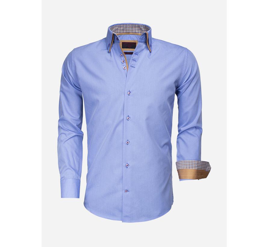 Overhemd Lange Mouw 65010 Dark Blue