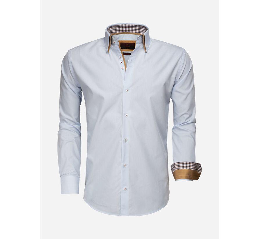 Overhemd Lange Mouw 65010 Blue