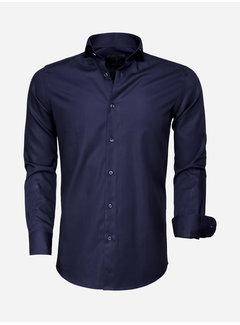 Gaznawi Overhemd Lange Mouw 65007 Bolzano Dark Navy