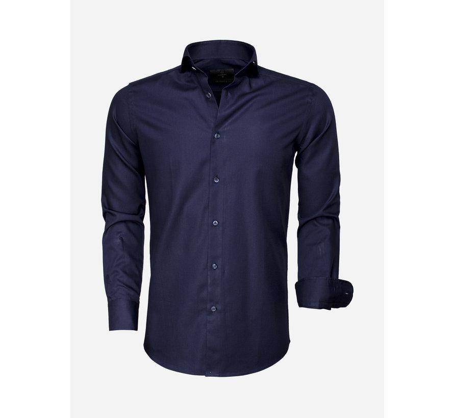 Overhemd Lange Mouw 65007 Bolzano Dark Navy