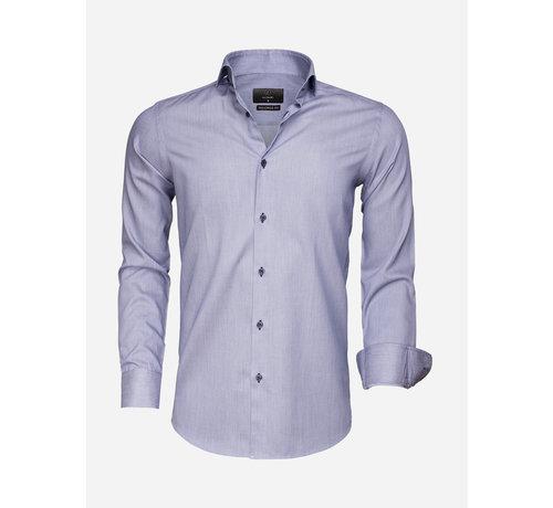 Gaznawi Overhemd Lange Mouw 65007 Bolzano Navy White