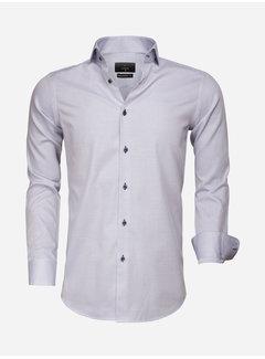 Gaznawi Overhemd Lange Mouw 65007 Bolzano Royal Blue White