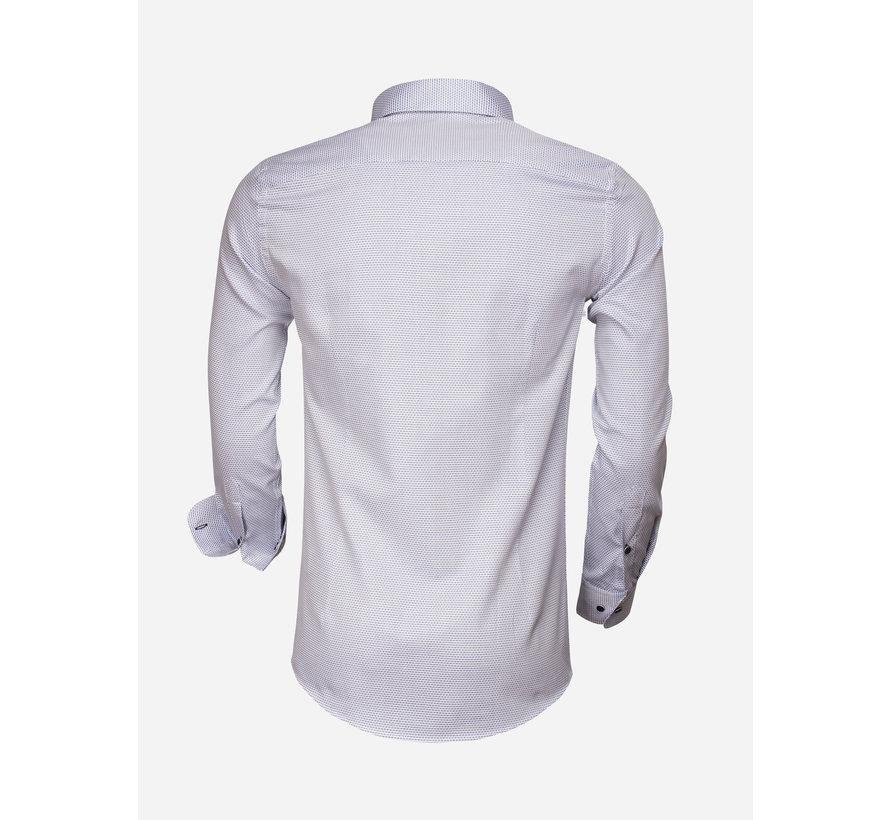 Overhemd Lange Mouw 65007 Bolzano Royal Blue White