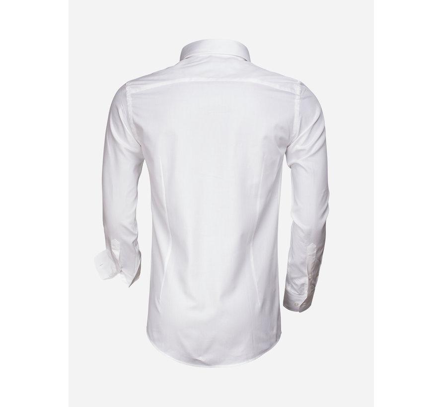 Overhemd Lange Mouw 65007 Bolzano White