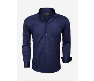 Gaznawi Overhemd Lange Mouw 65011 Carrara Navy