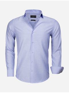 Gaznawi Overhemd Lange Mouw 65012 Caserta Blue
