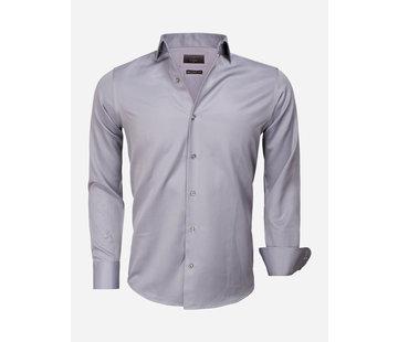 Gaznawi Overhemd Lange Mouw 65012 Caserta Dark Grey