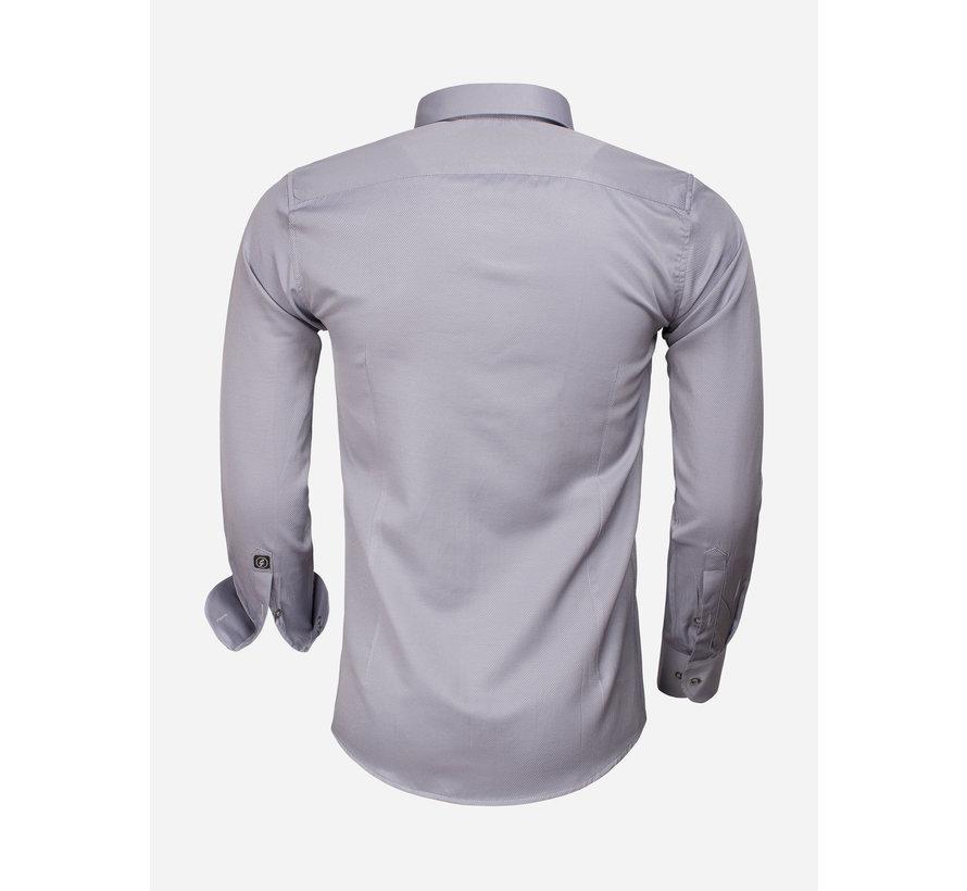 Overhemd Lange Mouw 65012 Caserta Dark Grey