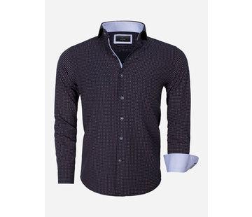 Gaznawi Overhemd Lange Mouw 65013 Brindisi Black