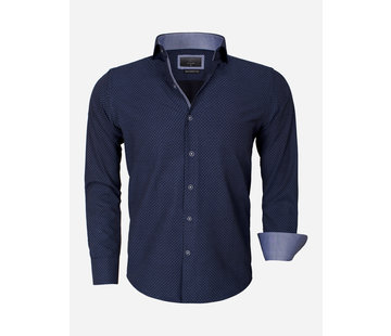 Gaznawi Overhemd Lange Mouw 65013 Brindisi Dark Navy