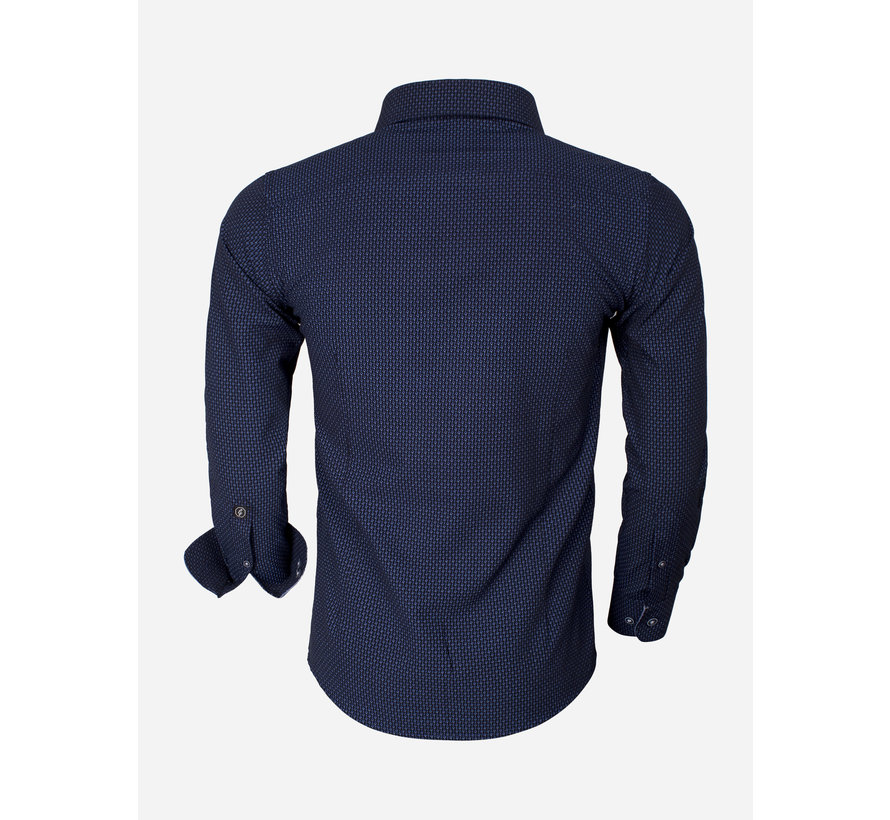 Overhemd Lange Mouw 65013 Brindisi Dark Navy