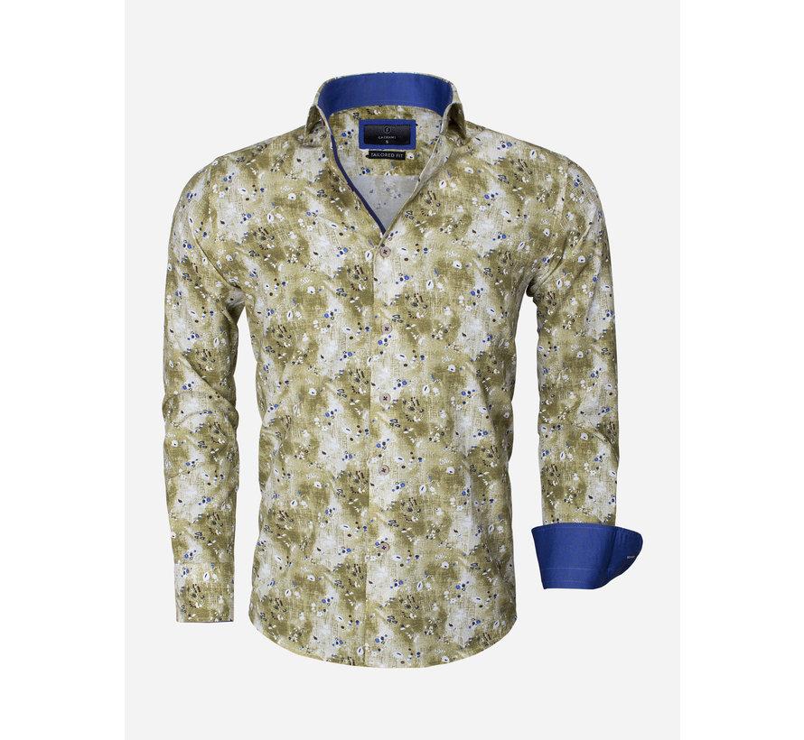 Overhemd Lange Mouw 65013 Brindisi Green