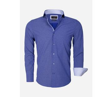 Gaznawi Overhemd Lange Mouw 65013 Brindisi Light Navy
