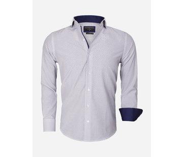 Gaznawi Overhemd Lange Mouw 65013 White Royal Blue