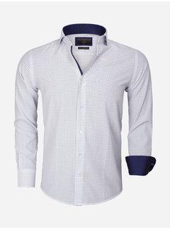 Gaznawi Overhemd Lange Mouw 65013 Brindisi White Turquoise