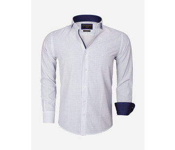Gaznawi Shirt Long Sleeve 65013 Brindisi White Turquoise