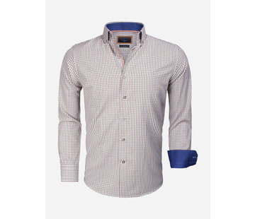 Gaznawi Overhemd Lange Mouw 65014 Brescia Light Brown