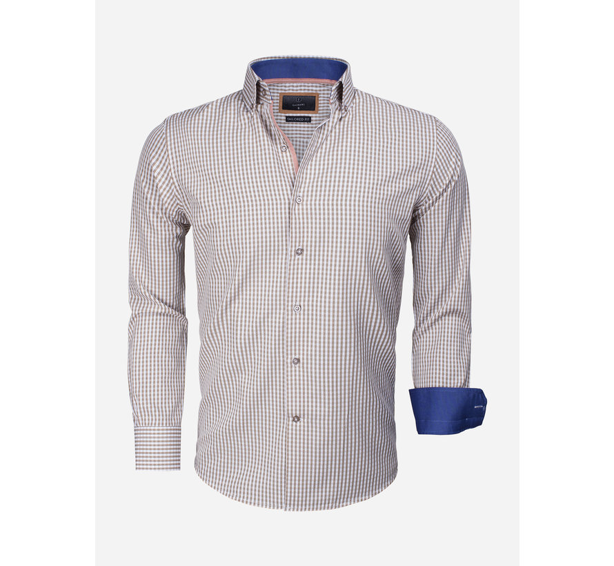 Overhemd Lange Mouw 65014 Brescia Light Brown