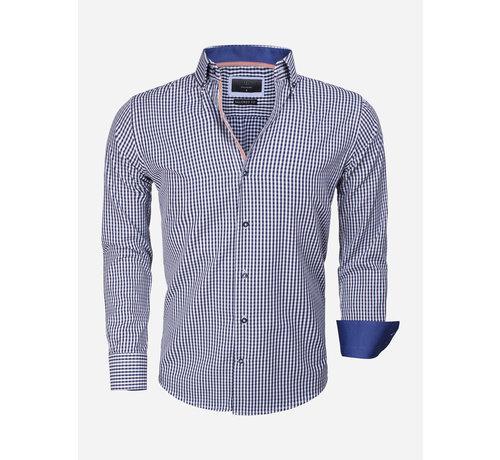 Gaznawi Overhemd Lange Mouw 65014 Brescia Navy