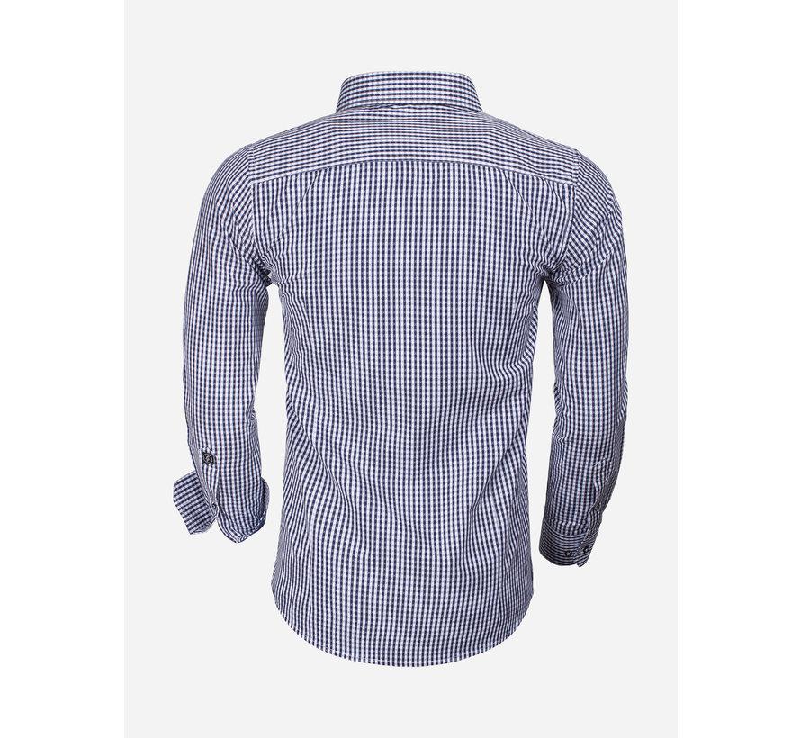 Overhemd Lange Mouw 65014 Brescia Navy