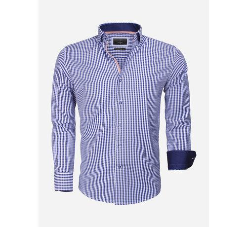 Gaznawi Overhemd Lange Mouw 65014 Brescia Light Navy