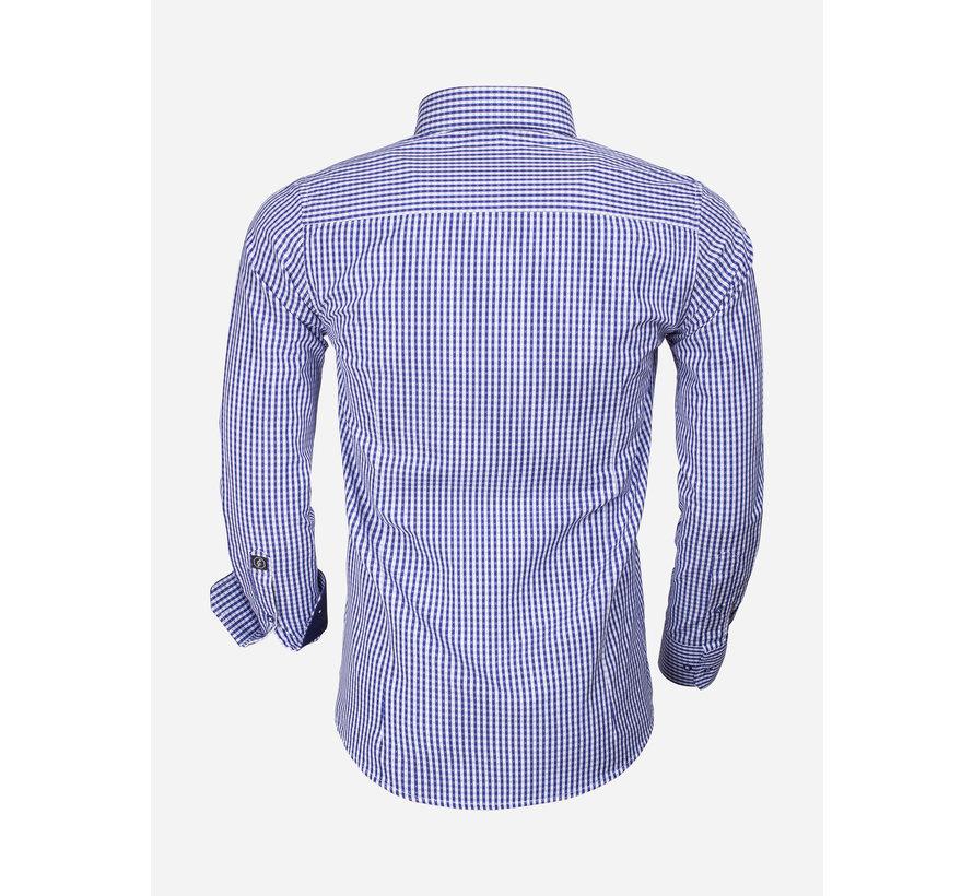 Overhemd Lange Mouw 65014 Brescia Light Navy