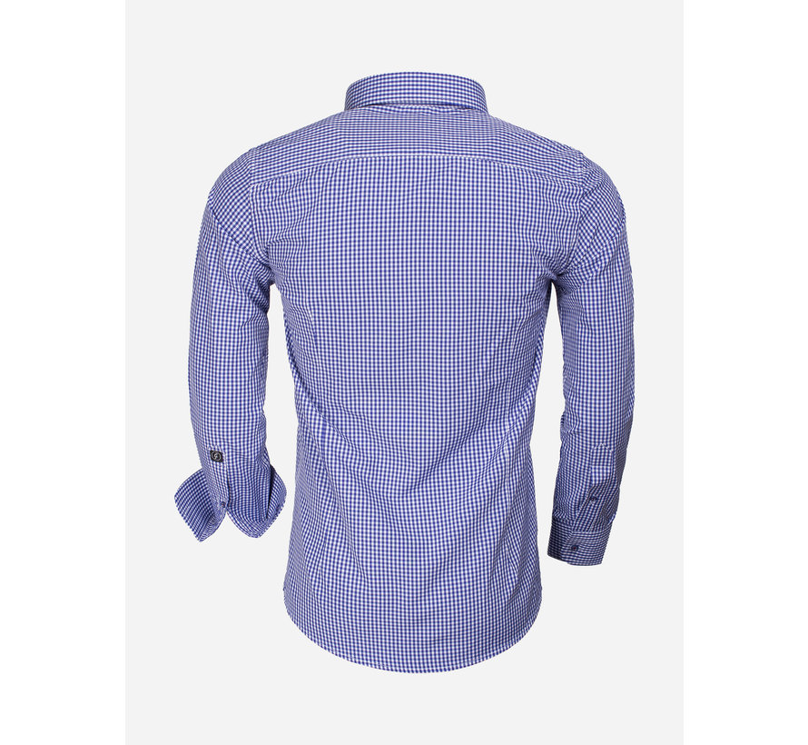 Overhemd Lange Mouw 65016 Light Navy