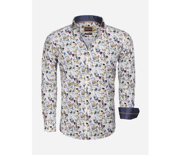 Wam Denim Overhemd Lange Mouw 75539 White