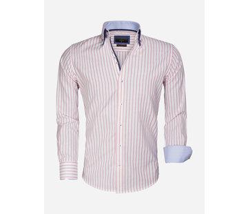 Gaznawi Overhemd Lange Mouw 65017 Bergamo White Pink