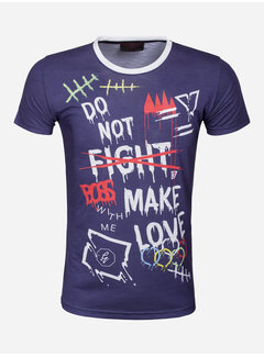 Gaznawi T-Shirt 69066 Los Angeles Navy
