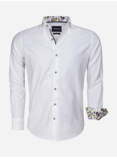 Wam Denim Overhemd Lange Mouw 75542 White