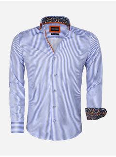 Wam Denim Overhemd Lange Mouw 75544 Blue