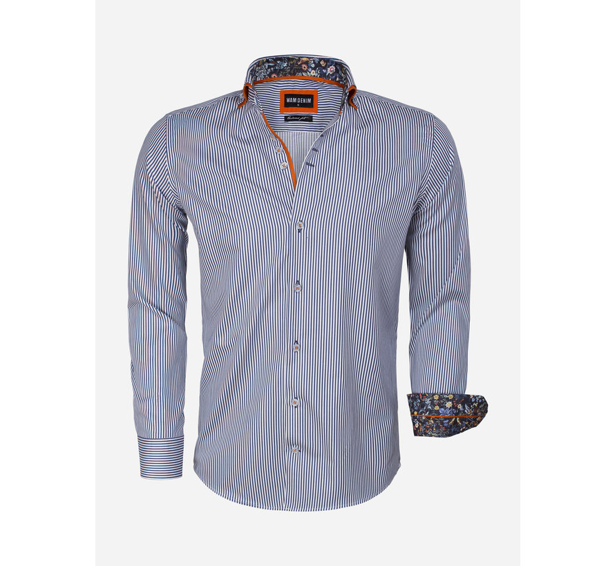 Overhemd Lange Mouw 75544 Navy