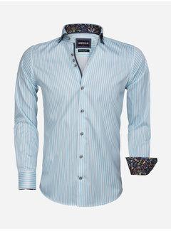 Wam Denim Overhemd Lange Mouw 75544 Turquoise