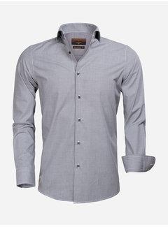 Gaznawi Overhemd Lange Mouw 65000 Cagliari Black White