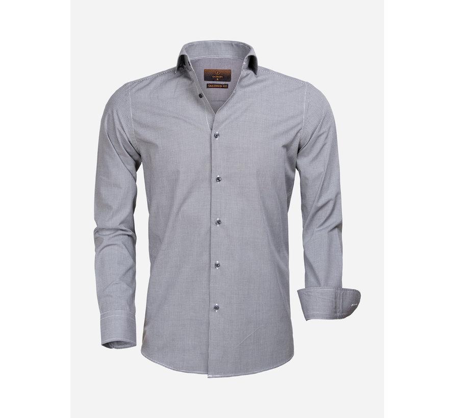 Overhemd Lange Mouw 65000 Cagliari Black White