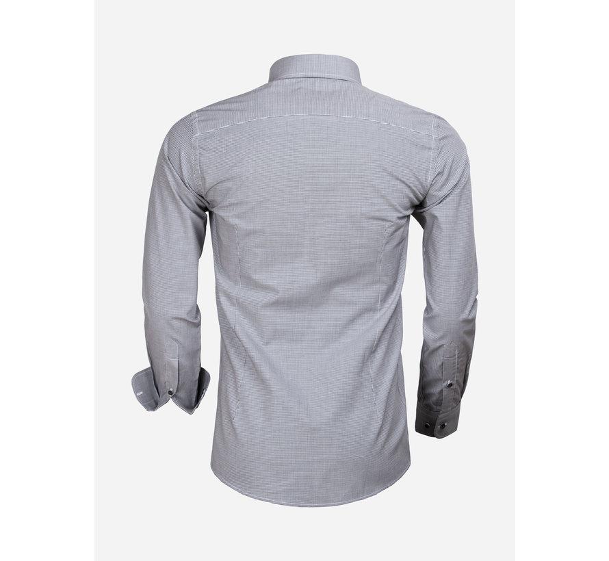 Shirt Long Sleeve 65000 Cagliari Black White