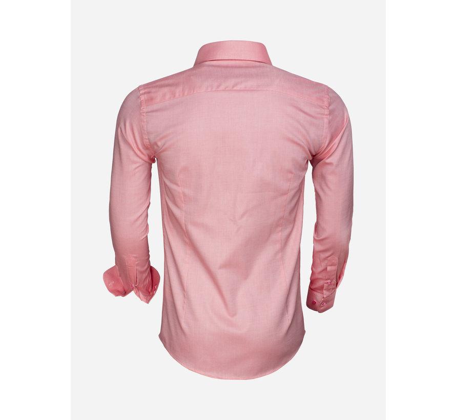 Overhemd Lange Mouw 65000 Cagliari Light Red