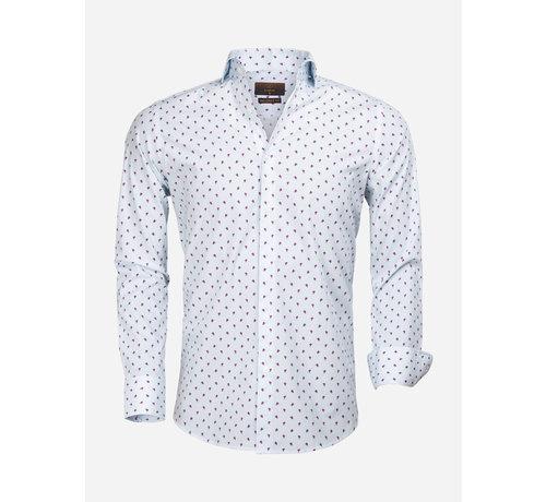 Gaznawi Overhemd Lange Mouw 65000 Cagliari Turquoise Fuchsia