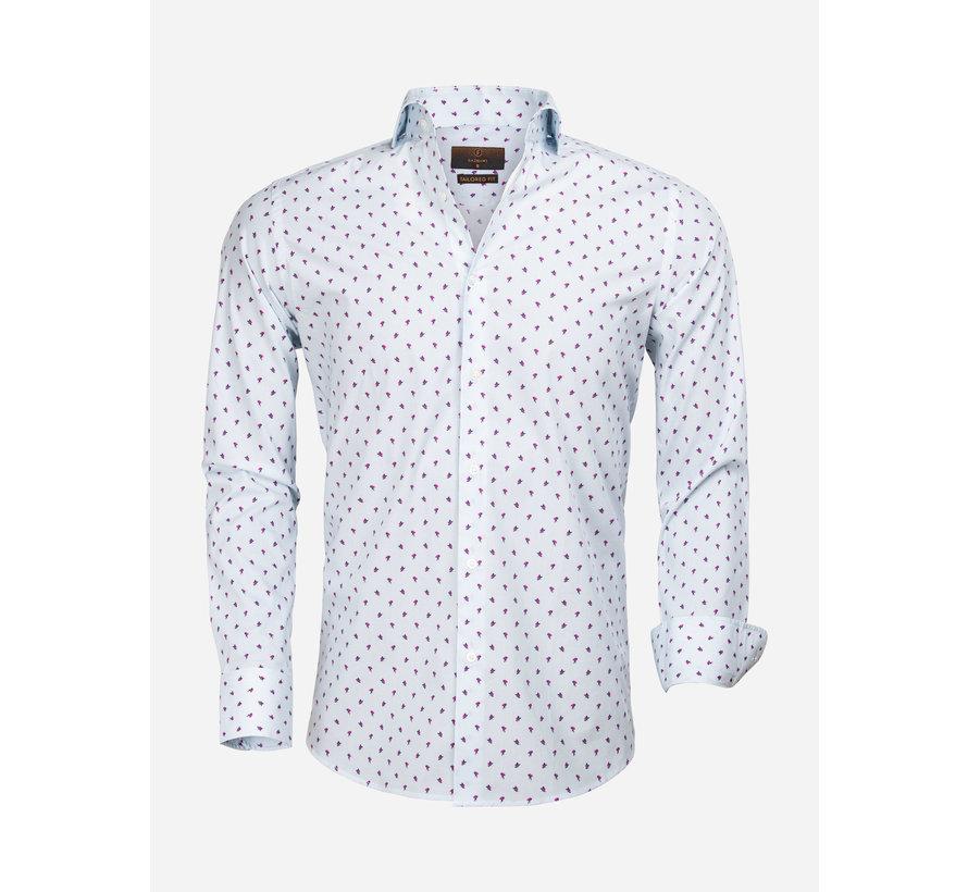 Shirt Long Sleeve 65000 Turquoise Fuchsia